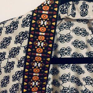 Tribal stitched kimono